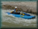 Kathy Smith on the Rio Grande, Texas