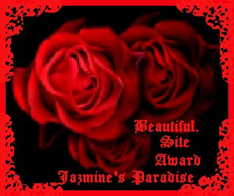 Jazmine's Paradise Beautiful Site Award