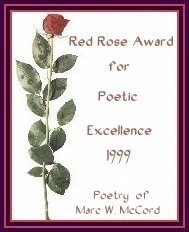 Red Rose Award for Poetry Excellence