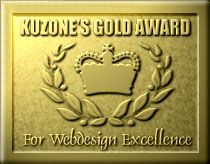 Kuzone's Gold Award for Web Page Excellence