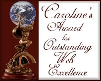 Caroline's Outstanding Web Excellence Award