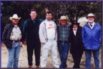 Juan, Alan, Bryan Roy, Betty and Allen at Cleburne State Park, February, 2002