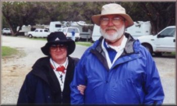 Betty and Allen Scott at Cleburne State Park, February, 2002