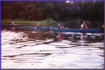 At over 4,000 cfs the Brazos is a leisurely paddle trip