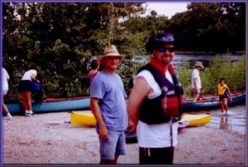 Mark Collins and Bryan Jackson on a Moonlight Paddle trip, Summer, 2002