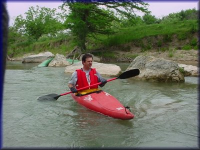 Bryan Jackson on the Upper Guadalupe River, 2003
