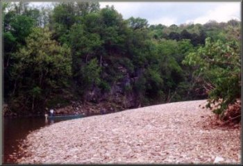One of the many gravel bar beaches on the Buffalo National River