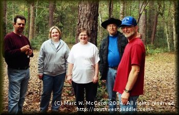 DDRC group at Village Creek, Thanksgiving, 2004