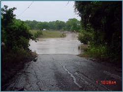 Edge Falls Road as the flood begins, July 1, 2002, 10:08 AM