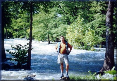 Marc at Gruene Rapid on the Lower Guad, Spetember 11, 2001