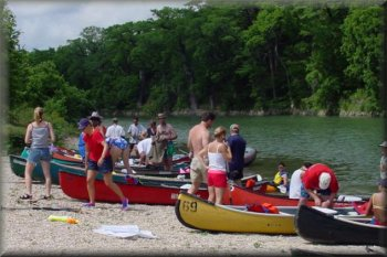 Lydia Perez Group, Guadalupe River, Texas, 2002
