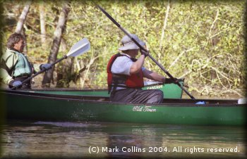 Marc McCord and Gail Shipley paddling Village Creek