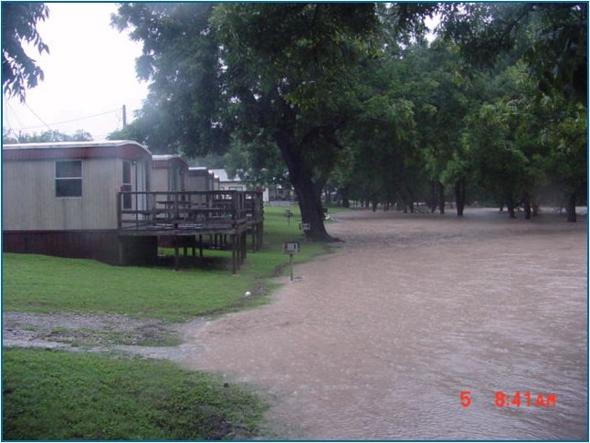 The entire picnic area at River Valley Resort was underwater on July 5, at 8:41 AM
