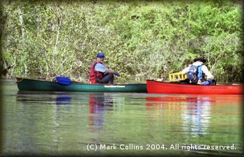 Sam Sloan (left) and Thomas Taylor on Village Creek
