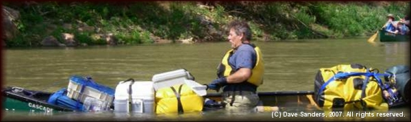 Canoeman's submarine preparing to dive on the Buffalo National River