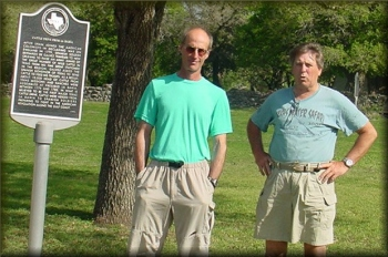 Larry Rice and Marc McCord at Goliad State Park, 2008