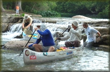Team CoTex at Rio Vista Dam in the TWS 2008